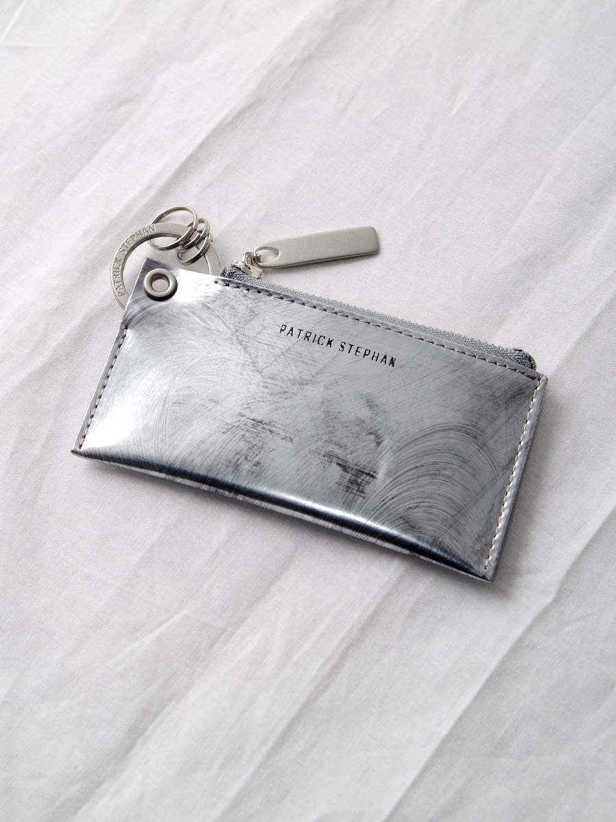 "PATRICK STEPHAN (パトリックステファン) ""Leather key case & holder"" #203AAO04 <キーケース> - SCRATCH SILVER"