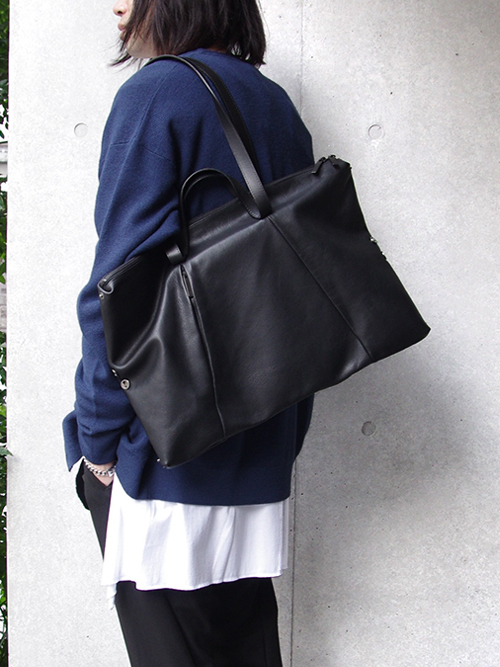"PATRICK STEPHAN (パトリックステファン) ""Leather tote ""loop handle"" #181ABG01 <トートバッグ/ボストンバッグ/ドラムバッグ>"