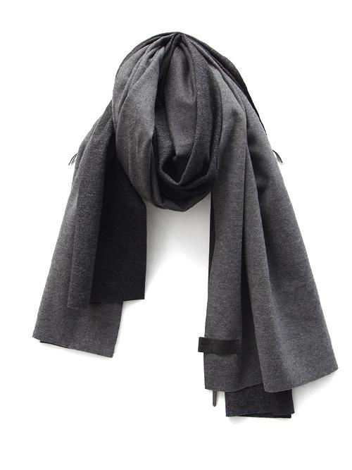 "PATRICK STEPHAN (パトリックステファン) ""Jersey scarf 'wrap'""  #182ASF21  <ストール/マフラー> - GRAY MIX"