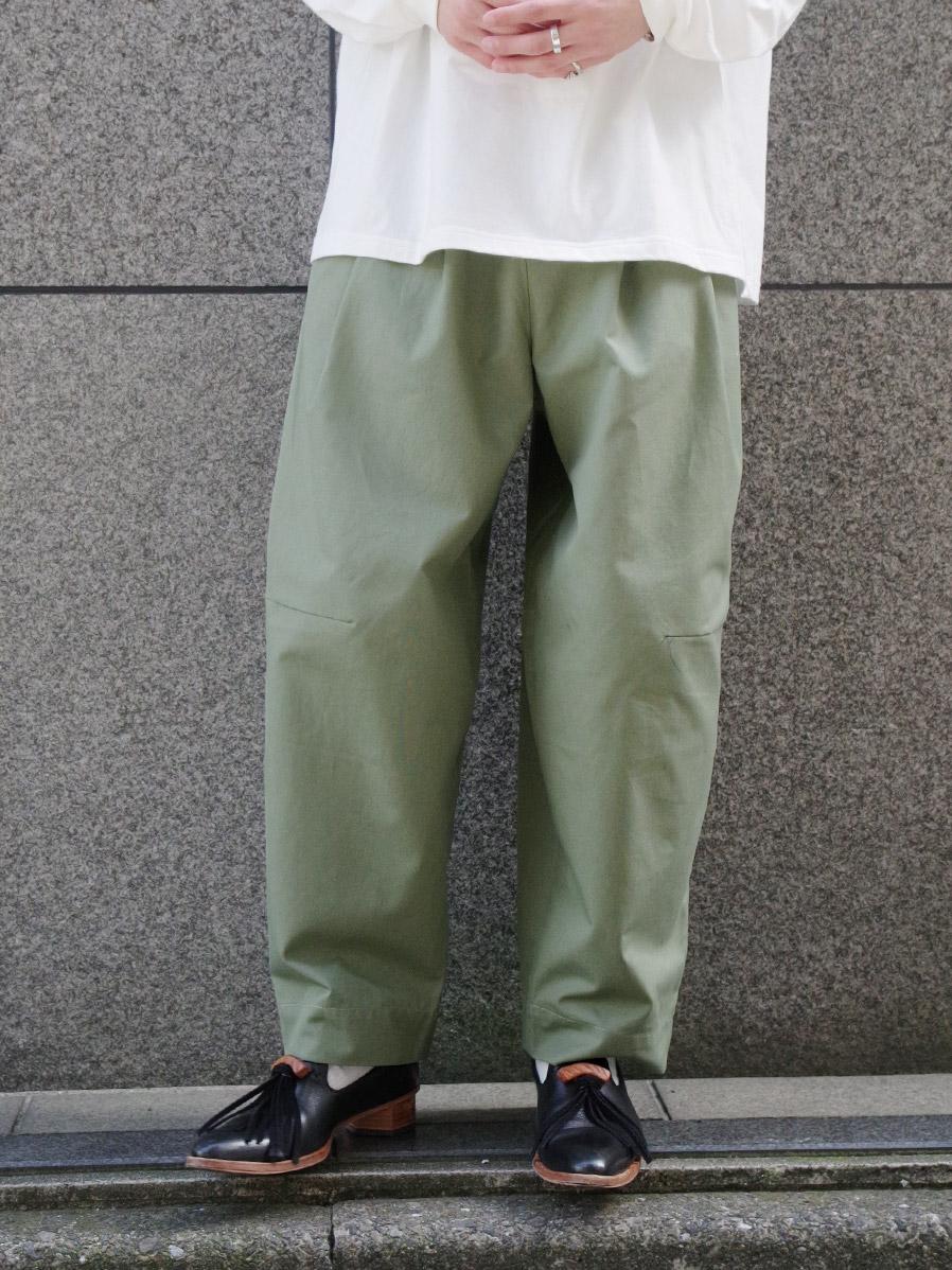 "【2021SS】 SHINYAKOZUKA (シンヤコヅカ) ""TAPERED BAGGY"" <パンツ> - GRASS"