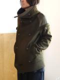 "【19AW予約商品】 AlexanderLeeChang アレキサンダーリーチャン | ""SAKASAMA PCOAT 19"" <サカサマPコート/ピーコート> - KHAKI"