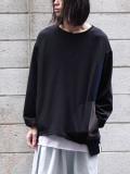 "【20AW】 AlexanderLeeChang | ""BIG CUT LT"" <Tシャツ/カットソー> - BLACK"