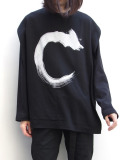 "【19AW】 ALMOSTBLACK (オールモストブラック) ""DRAWING L/S LAYERED CUTSEW"" <レイヤードカットソー> - BLACK"