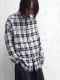 "【20AW】 ALMOSTBLACK (オールモストブラック) ""DOUBLE CLOTH WIDE SHIRT"" <シャツ> - CHECK"
