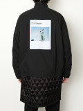 "【20AW】 ALMOSTBLACK (オールモストブラック) ""LAYERED BLOUSON graphic by PETER DE POTTER"" <ブルゾン>"