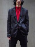 "【SALE:20AW】 ALMOSTBLACK (オールモストブラック) ""DOUBLE CLOTH TAILORED JACKET"" <テーラードジャケット>"