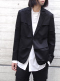 "【20AW】 ALMOSTBLACK (オールモストブラック) ""DOUBLE CLOTH TAILORED JACKET"" <テーラードジャケット>"