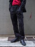 "【SALE:20AW】 ALMOSTBLACK (オールモストブラック) ""DOUBLE CLOTH SLACKS"" <スラックス>"