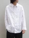 "【20AW】 ALMOSTBLACK (オールモストブラック) ""DOUBLE CLOTH WIDE SHIRT"" <シャツ> - WHITE"