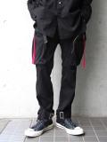 """【20SS】 ALMOSTBLACK (オールモストブラック) """"PARACHUTE PANTS"""" <パンツ>"""