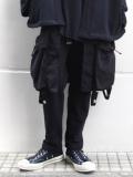 """【19SS】 ALMOSTBLACK (オールモストブラック) """"Military Apron Docking Pants"""" <レイヤードパンツ>"""