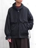 "【2020AW】 ANEI (アーネイ)  ""NAVAL HOODIE"" <アノラック> - BLACK"