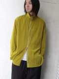 "【2020AW】 ANEI (アーネイ)  ""ZIPUP SHIRT ""A"""" <シャツ> - DK. LIME"