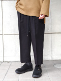 "【2020AW】 ANEI (アーネイ)  ""INTUCK SLACKS WIDE W/C"" <パンツ> - CHARCOAL (BLACK系)"