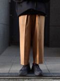 "ANEI (アーネイ)  ""INTUCK SLACKS WIDE W/C"" <パンツ> - CAMEL"