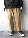 "【2020SS】 ANEI (アーネイ)  ""INTUCK SLACKS WIDE"" <ワイドパンツ> - KHAKI"