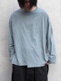 "【2020SS】 ANEI (アーネイ)  ""CREW NECK LOOSE"" <カットソー> - GREEN(ブルー系)"