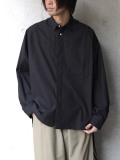 "【2020SS】 ANEI (アーネイ)  ""ACTIVE SHIRT ""A"""" <シャツ> - BLACK"