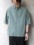 "【2020SS】 ANEI (アーネイ)  ""ACTIVE SHIRT ""A"" H.S."" <シャツ> - LT. PETROL"