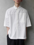 "【2020SS】 ANEI (アーネイ)  ""ACTIVE SHIRT ""A"" H.S."" <シャツ> - WHITE"