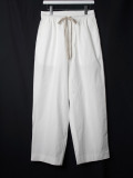 "【2020SS】 ANEI (アーネイ)  ""ISLE PANTS"" <ワイドパンツ> - WHITE"