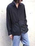 "【2021SS】 ANEI (アーネイ)  ""IMI SHIRT"" <シャツ> - BLACK"
