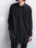 "【18AW】 BED J.W. FORD (ベッドフォード) ""Cape shirt"" 18AW-B-BL02 <シャツ>  - BLACK"