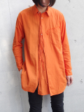"【18AW】 BED J.W. FORD (ベッドフォード) ""Cape shirt"" 18AW-B-BL02 <シャツ>  - ORANGE"