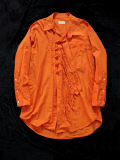 "【18AW】 BED J.W. FORD (ベッドフォード) ""China shirt"" 18AW-B-BL03 <シャツ>  - ORANGE"