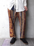 "【18AW】 BED J.W. FORD (ベッドフォード) ""Curtain pants"" <カーテンパンツ>  - BROWN"