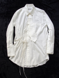 "【18AW】 BED J.W. FORD (ベッドフォード) ""Ribbon shirt"" 18AW-B-BL01 <シャツ>  - WHITE"