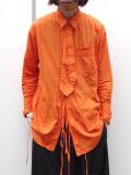 "【18AW】 BED J.W. FORD (ベッドフォード) ""Ribbon shirt"" 18AW-B-BL01 <シャツ>  - ORANGE"