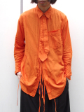 "【18AW】 BED J.W. FORD (ベッドフォード) ""Ribbon shirt"" 18AW-B-BL01 <シャツ>  - ORANGE"