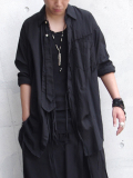"【18AW】 BED J.W. FORD (ベッドフォード) ""Ribbon shirt"" 18AW-B-BL01 <シャツ>  - BLACK"