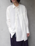 "【18AW】 BED J.W. FORD (ベッドフォード) ""Cape shirt"" 18AW-B-BL02 <シャツ>  - WHITE"