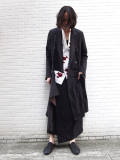 "【18SS】 BED J.W. FORD (ベッドフォード) ""Wrap coat."" 18SS-B-CT01 <コート>  - BLACK"