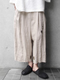 "【19SS】 BED J.W. FORD (ベッドフォード) ""Wide shorts ver.2"" <ワイドクロップドパンツ> - NATURAL"