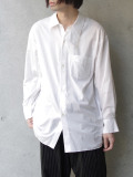 "BED J.W. FORD (ベッドフォード) ""Cotton Silk Dog Ear Shirt"" <シャツ> - WHITE"