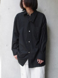 "BED J.W. FORD (ベッドフォード) ""Cotton Silk Dog Ear Shirt"" <シャツ> - BLACK"