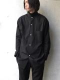 "【2020SS】 BED J.W. FORD (ベッドフォード) ""Cotton Silk Dog Ear Shirt"" <シャツ> - BLACK"