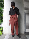 "【2020SS】 BED J.W. FORD (ベッドフォード) ""Wool Over Pants"" <パンツ> - BROWN"