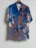 "【2020SS】 BED J.W. FORD (ベッドフォード) ""Print Half Sleeve Shirt"" <シャツ> - PURPLE(夜の空)"