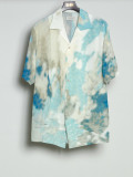 "【2020SS】 BED J.W. FORD (ベッドフォード) ""Print Half Sleeve Shirt"" <シャツ> - BLUE(朝の空)"