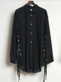 "【2020SS】 BED J.W. FORD (ベッドフォード) ""Ribbon Shirt"" <シャツ> - BLACK"