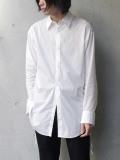 "【2020SS】 BED J.W. FORD (ベッドフォード) ""Ribbon Shirt"" <シャツ> - WHITE"
