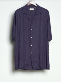 "【2020SS】 BED J.W. FORD (ベッドフォード) ""Stripe Half Sleeve Shirt"" <シャツ> - PURPLE"