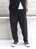 "【2020SS】 BED J.W. FORD (ベッドフォード) ""Two Tucks Stripe Pants"" <パンツ> - BLACK"