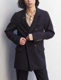 "【2021SS】 BED J.W. FORD (ベッドフォード) ""DOUBLE-BREASTED JACKET"" <ダブルジャケット> - BLACK"