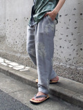 """【2021SS】 BED J.W. FORD (ベッドフォード) """"JACQUARD TAPERED TROUSERS"""" <パンツ> - ICE GRAY"""