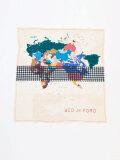 "【2021SS】 BED J.W. FORD (ベッドフォード) ""MAP SCARF 53×53"" <スカーフ>"
